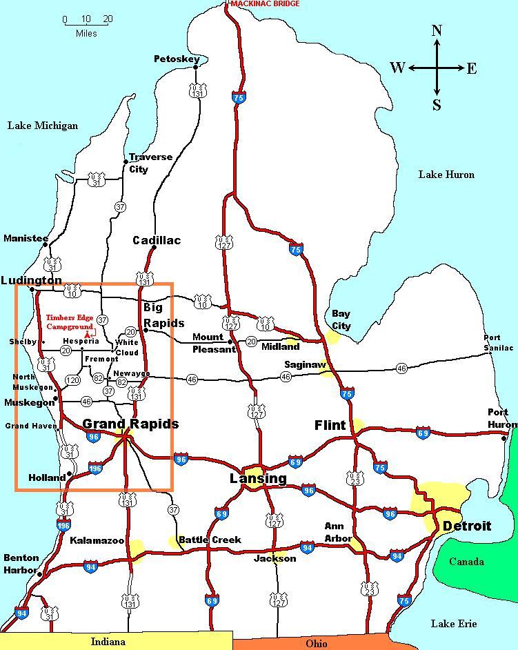 Timbers Edge Michigan Map - Michigan map us